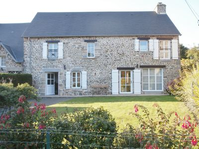 Photo for 4 bedroom house in a quiet rural hamlet 3km from the sea on Mont St. Michel Bay
