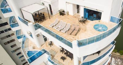 Enjoy your own Spacious Terrace overlooking the Sea with large Jacuzzi