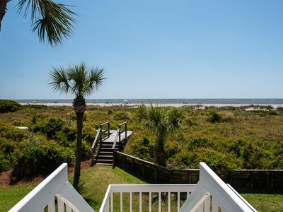 Photo for Oceanfront Renovated Townhome on the beach in Wild Dunes Resort