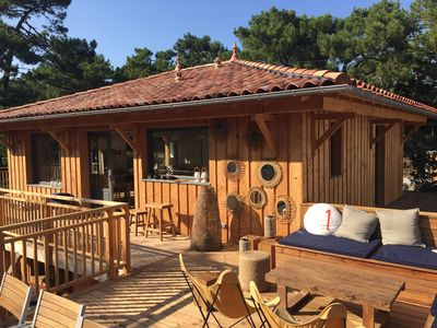 Photo for Cap Ferret Lighthouse between ocean and pool 3 bedrooms luxury bathed in light