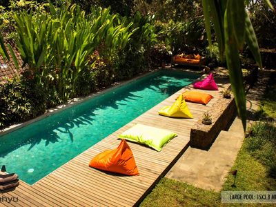 Photo for Spacious 4 Bedroom Wahyu Villa with 2 Pools and Lush Garden