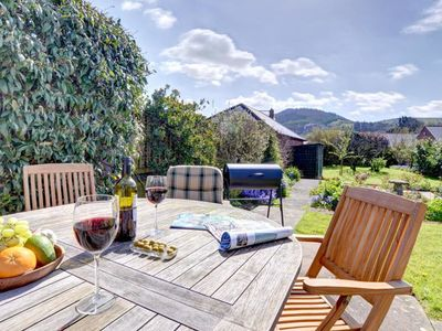 Photo for Beautiful holiday home in Wales with spacious kitchen, open fireplace and cosy garden