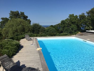Photo for 200 m² villa, heated swimming pool, 300 m away from Porto Vecchio, South Corsica