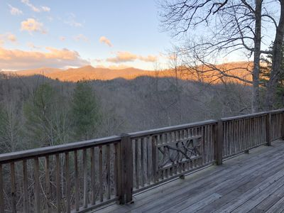 Photo for Beautiful North Carolina Treetop Cottage Overlooking The Smoky Mountains