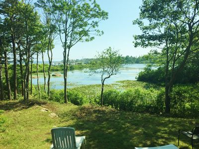 waterfront property with views of the pond and ocean - look for turtles!