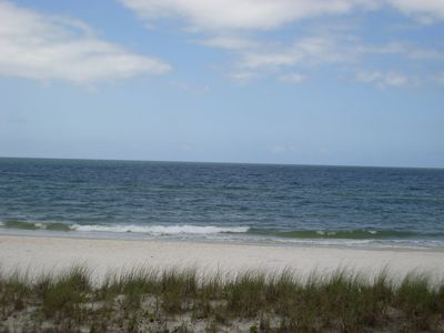 Photo for Beach front barefoot- friendly home in Mexico Beach