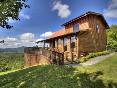 Photo for Best Panoramic Views, 1 Mile to Park, Top Rental, Theater, Wifi, Hot Tub