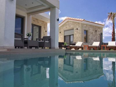 Photo for Boasting a garden, an outdoor pool and sea views, Elena villa is set in Kissamos