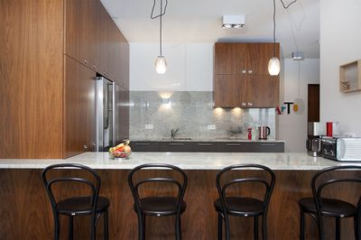 Kitchen with granite table tops