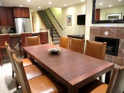 Dining, Kitchen, Fireplace