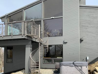 Photo for NEW LISTING! Stylish home w/ private hot tub, sauna, jetted tub, & great views!