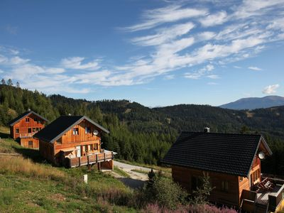 Photo for Detached luxury wooden chalet with sauna on the Klippitztörl