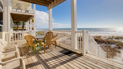 Photo for DIRECTLY ON THE BEACH - 5 Bed/4Bath - Incredible Views - Private Beach Access