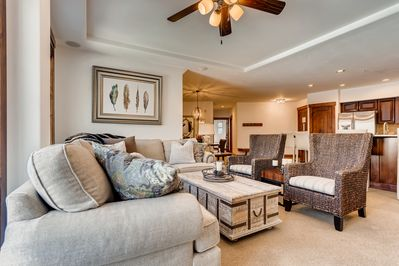 Living Room - Welcome to Crystal Peak Lodge! This condo is professionally managed by TurnKey Vacation Rentals.