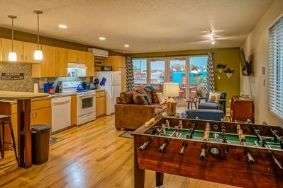 Open living area with a great view of the Sandias