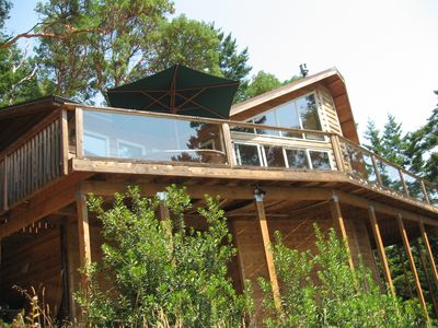 Front of house looking up from beach area