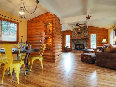 Photo for Lazy Elk Retreat - Single Level Log Cabin - Near Rocky Mountain National Park! -- EV #3451