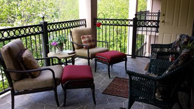 Beautiful new balcony furniture... A gorgeous outdoor living area!