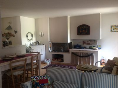 Photo for ELEGANT SUITE (60 m2) in a private house in CISANO (S. Happy d / B)