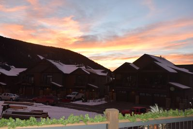 Beautiful sunset views from the covered deck.
