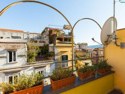 Photo for Chiaia Penthouse terrace apartment in Chiaia with WiFi, private terrace & balcony.