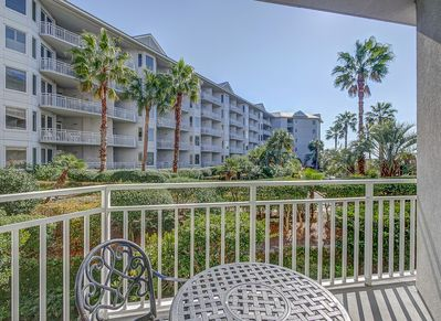 View from the Main Balcony at 1102 Sea Crest on Hilton Head Island