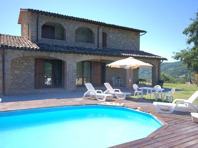 Photo for Cozy Holiday Home in Valtopina Italy with Private Pool