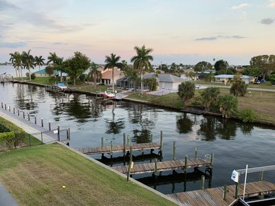 Photo for Cape Coral Water Front Condo with PRIVATE Rooftop Deck - 7 min walk to downtown