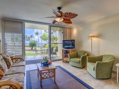 Photo for Air Conditioned Napili Shores B109 - Full Ocean view - Ground Floor location -  Special October Rate