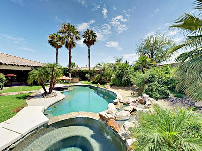 Photo for Luxe Resort-Style Gated 4BR w/ Casita - Pool, Hot Tub, Fire Pit & Billiards