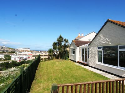 Photo for Stunning countryside and sea views, garden, WiFi, parking and pet friendly.