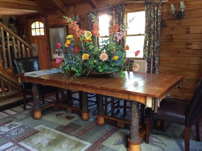adirondack dining room chairs table and custom extended additional leaves style furniture