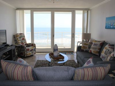 Photo for Amazing DIRECT Oceanfront Views on No Drive Beach; heated pool!