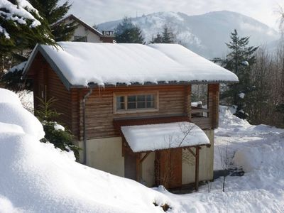 Photo for CHALET WOOD FINNISH RONDINS 7 minutes from the slopes