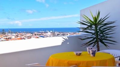 Photo for Apartment with great view over the sea, city of Ponta Delgada and mountain