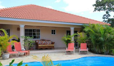 Photo for Spend your winter in a warm Caribbean villa with pool, near beaches and shops