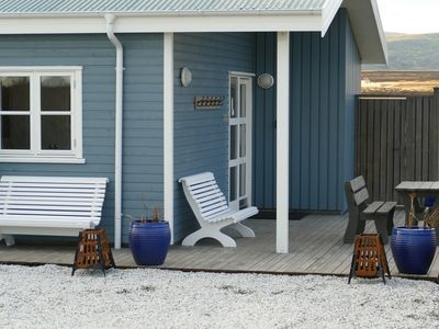 Photo for Riverfront romantic Asgardur vacation home of comfort