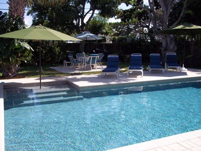 Luxury pool, shaded sun bench, two deep end benches.  Salt system, pebble finish