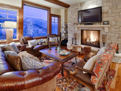 Photo for Ski-in, ski-out luxury condo with stunning views, shared hot tub, free shuttle and lodge amenities