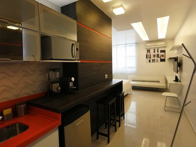 Photo for Rio042-Lovely studio apartment completely equipped in Ipanema