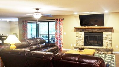 Open Den w/ flat screen TV. There is a daybed w/trundle for extra sleeping space