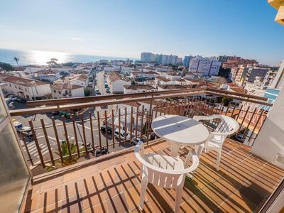 Photo for Sunny apartment in Blanes of 6 Pers 2 bedrooms just meters from the beach.