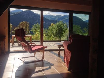 Photo for Sunny, secluded, spacious and comfortable mountain house, with sensational views