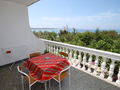 Photo for Studio flat near beach Povljana (Pag)