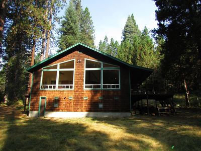 Photo for On a Meadow by a Creek in the Shadow of Mt Shasta - Free Wifi plus Sleeps 8+