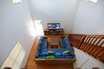 ...looking down from upstairs