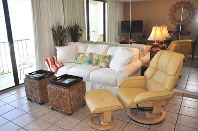 Living Room with Beach View. Queen Sleeper