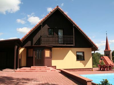 Photo for Beautiful detached villa with private pool in Cermna, in the Giant Mountains