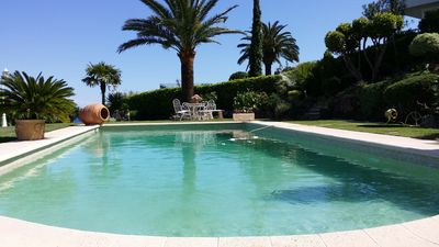 Photo for Appart INDEPENDANT RDC villa SUPER CANNES swimming pool seen sea