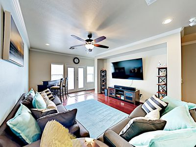 Living Area - Welcome to Port Aransas! This condo is professionally managed by TurnKey Vacation Rentals.